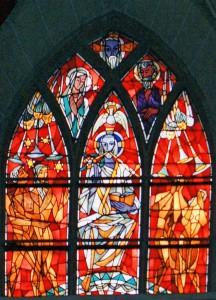 Obergadenfenster in der Westwand der Basilika St. Kastor in Koblenz