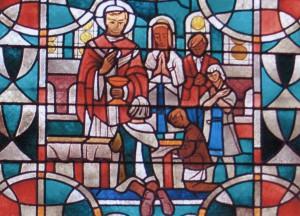 Piusfenster der Basilika St. Kastor in Koblenz
