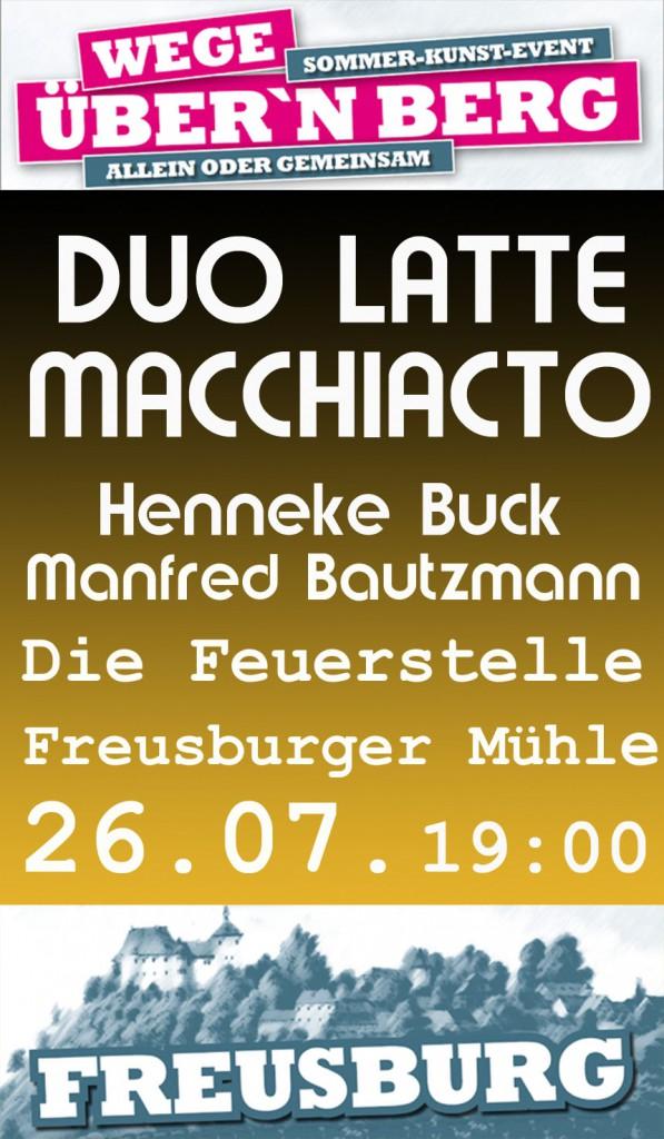 26.07.2015 Freusburger Mühle, Die Feuerstelle: Duo Latte Macchiacto