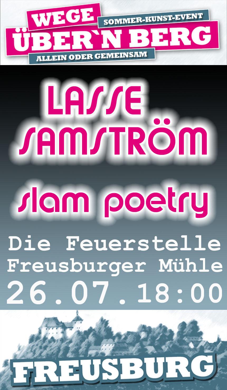26.07.2015 Freusburger Mühle, Die Feuerstelle: Lasse Samström