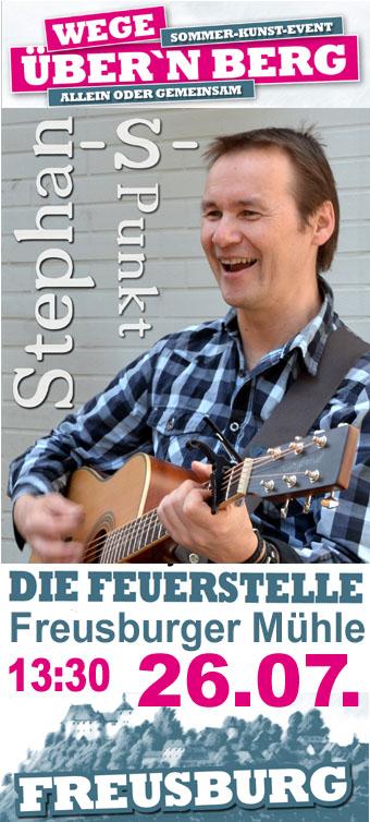 26.07.2015 Freusburger Mühle, Die Feuerstelle: Stephan-S-Punkt