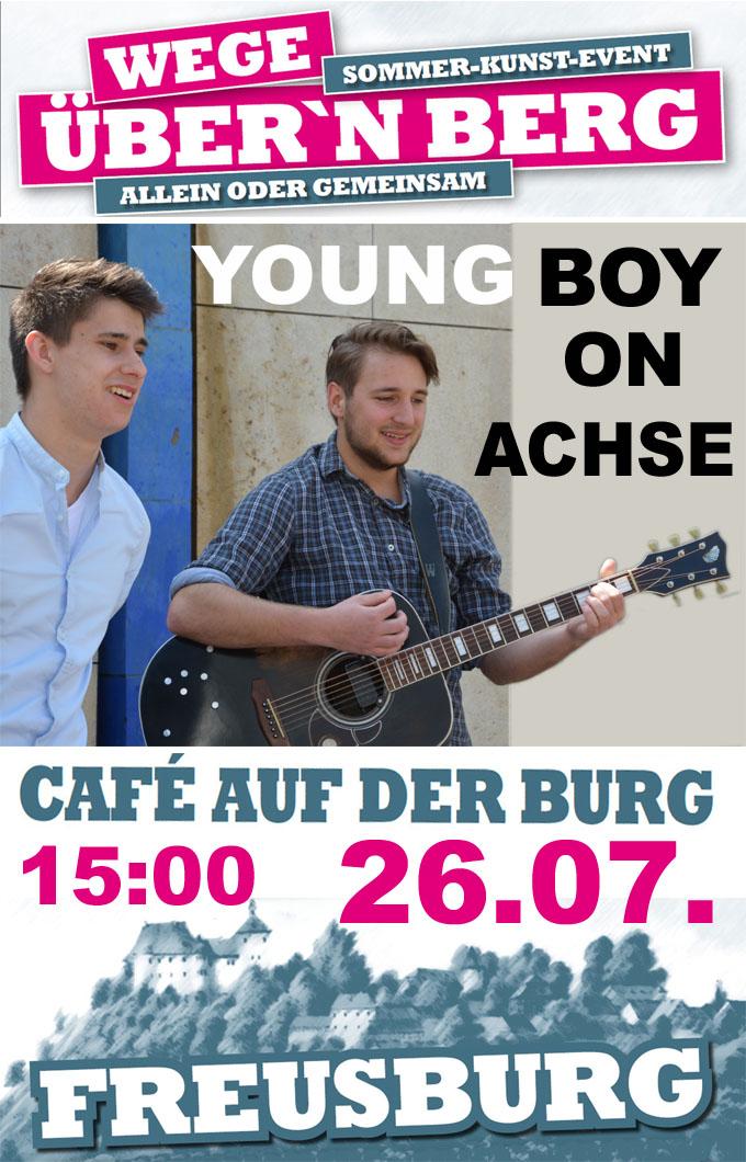 26.07.2015 Freusburg, Cafe auf der Burg: Young Boy on Achse